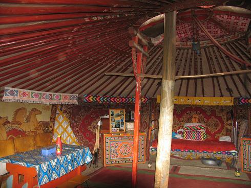 inside a Mongol ger